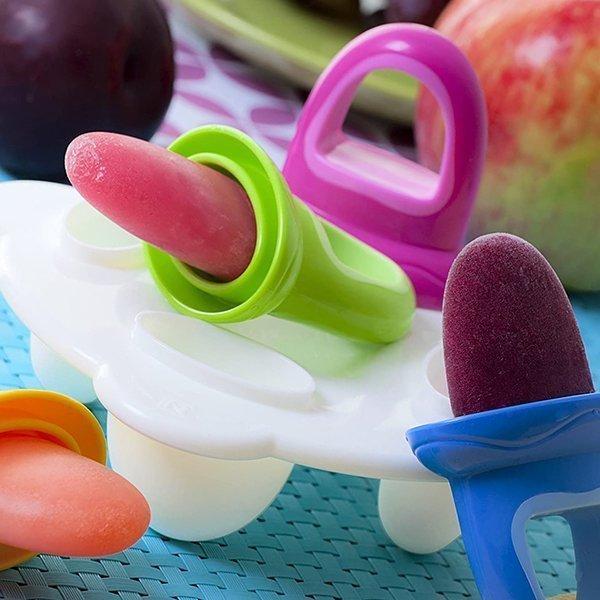 nuby garden fresh fruitsicle frozen pop tray - best baby food feeders