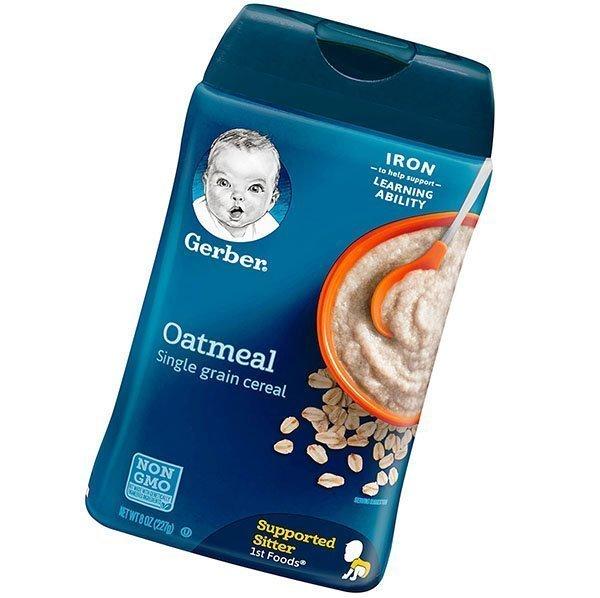 gerber single-grain oatmeal baby cereal - best baby cereal