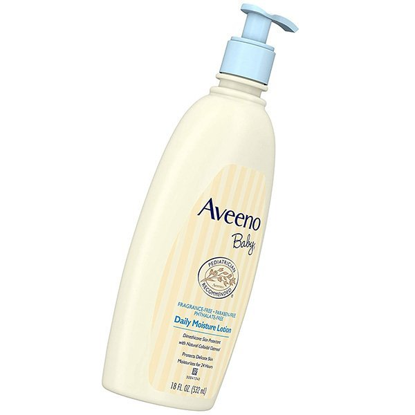 aveeno baby daily moisture lotion for delicate skin - best baby lotion