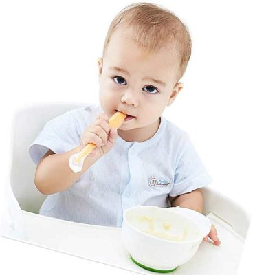 4 pack baby spoons kirecoo soft-tip first stage silicone self feeding training spoons - best baby spoons for self feeding