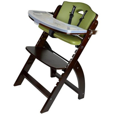 abiie beyond wooden high chair with tray - best high chair