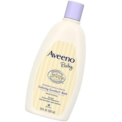 aveeno baby calming comfort bath with relaxing lavender & vanilla scents - best baby shampoo