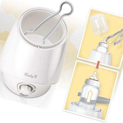 babyx fast bottle warmer for breastmilk - best baby bottle warmers