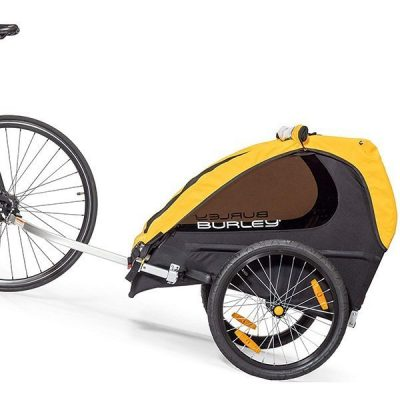 burley bee child trailer - best baby bike trailer