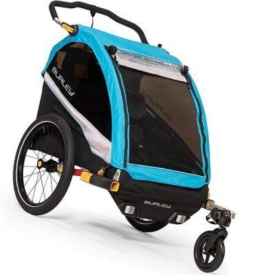 burley d'lite x 2 seat kids bike trailer & stroller - best baby bike trailer