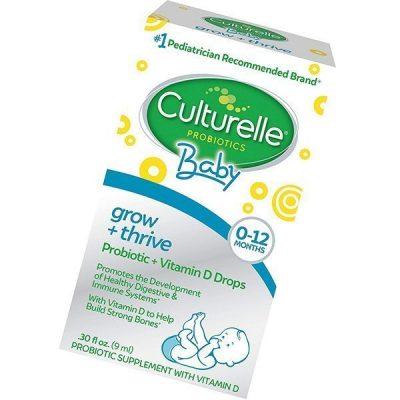 culturelle baby grow + thrive probiotics + vitamin d drops - best probiotics for babies