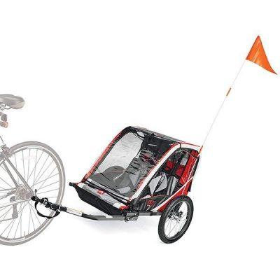 deluxe steel child trailer - best baby bike trailer