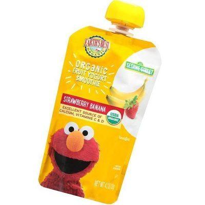 earth's best organic fruit yogurt smoothie - best yogurt for babies