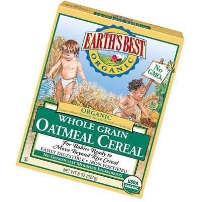 earth's best organic infant cereal, whole grain oatmeal - best baby cereal
