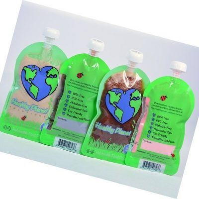 healthy planet solutions reusable food pouch clear plastic storage - best reusable baby food pouches
