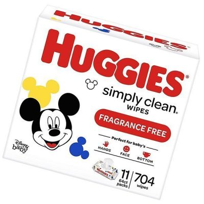 huggies simply clean unscented baby wipes - best baby wipes