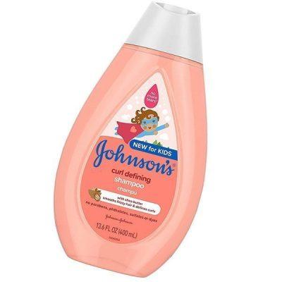 johnson's curl-defining tear-free kids' shampoo with shea butter - best baby shampoo