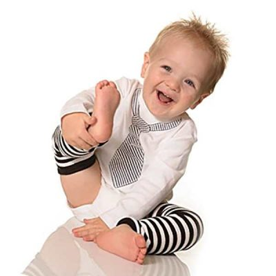 judanzy 3 pair baby boy and girl leg warmers black, white neutral colors - best baby leg warmers