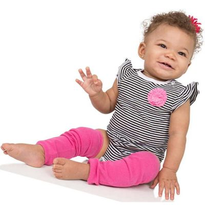 judanzy 3 pair baby girl leg warmers solid hot pink - best baby leg warmers