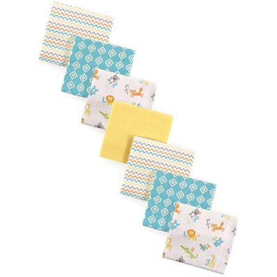 luvable friends unisex baby cotton flannel receiving blankets - best baby swaddle blankets
