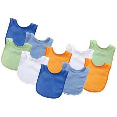 luvable friends unisex baby cotton terry bibs - best baby bibs