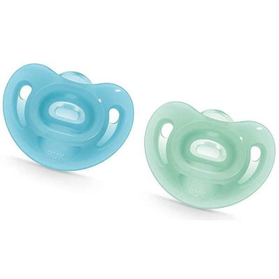 nuk sensitive orthodontic pacifiers, 0-6 months - best pacifier for breastfed baby