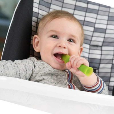 olababy 100% silicone soft-tip training spoon for baby led weaning 2pack - best baby spoons for self feeding