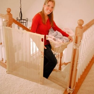 retract a gate safety gate 52 white - best retractable baby gates