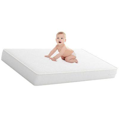 safety 1st heavenly dreams white crib & toddler bed mattress - best crib mattress