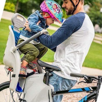 schwinn deluxe bicycle mounted child carrier/bike seat - best infant bicycle carriers