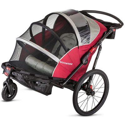 schwinn joyrider echo and trailblazer bike trailer for kids - best baby bike trailer