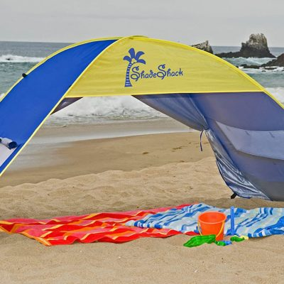 shade shack beach tent easy automatic instant pop up camping sun shelter - best beach stuff for babies