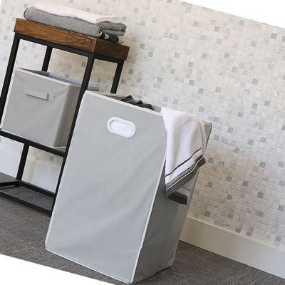 simple houseware foldable closet laundry hamper basket - best baby laundry hampers