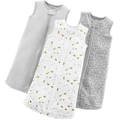 simple joys by carter's baby 3-pack cotton sleeveless sleepbag - best baby sleep sacks