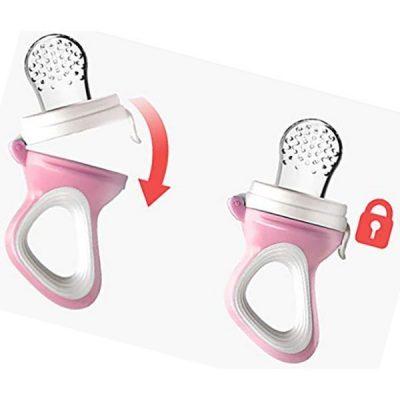 tekstar 2 pack fresh fruit silicone nipple teething toy-fresh fruit feeder - best baby food feeders