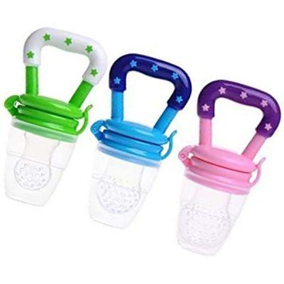 tekstar baby fruit feeder pacifier 3 pack - best baby food feeders