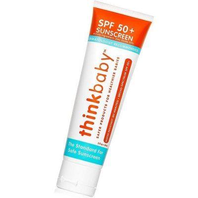 thinkbaby safe sunscreen spf 50+ - best beach stuff for babies